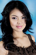 charming and elegant Kazakh babe