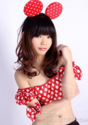 Chinese babe in a Minnie Mouse costume