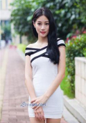 Chinese princess in a white dress