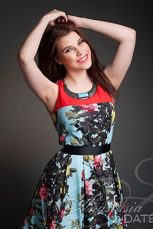 cutie Czech girl in a floral dress
