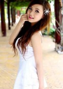desirable Vietnam girl in a simple white dress