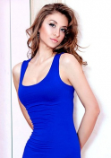 elegant Ukrainian in blue dress