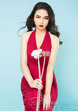 exquisite China babe as pretty as the flower