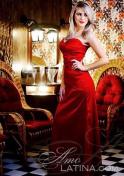foxy Brazilian in a sexy red tube dress