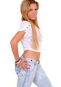 hot South American lady in bluejeans