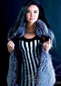 Kazakh woman in a fur coat