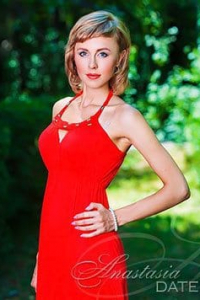 lady in red from Almaty
