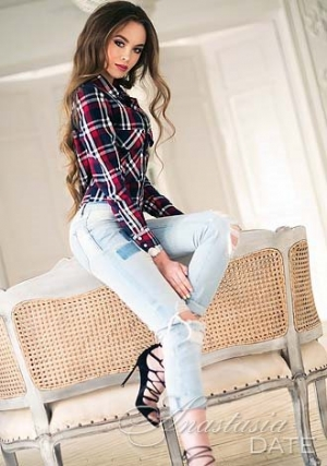 Latvian girl Barbara sexy in blue jeans