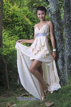 lovely Filipina in a white dress