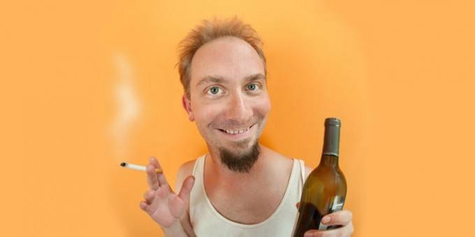 man holding beer and a smoke