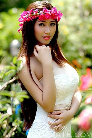 optimistic Asian babe from Vietnam