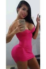 passionate Colombian fashion model