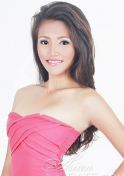 pretty in pink Filipina girl