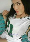 seductive Venezuelan girl wearing jersey shirt