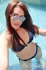 sexy Colombian woman at the pool