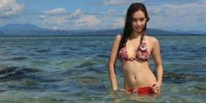 sexy Filipina girl at the beach