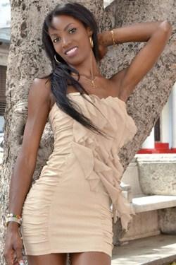 Cuban babe in sexy dress
