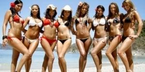 sizzling hot Costa Rican bikini babes