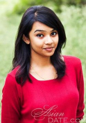 sweet-and-simple Indian babe in a red shirt