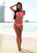 Ukraine babe looking hot in pink bikini