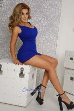Ukraine girl wearing a blue short dress
