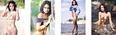beautiful Ukrainian bikini bride