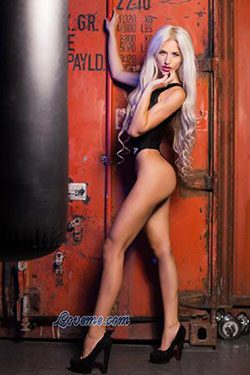 bewitching Ukrainian bikini babe