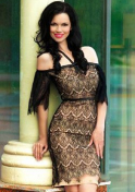 black-haired Ukraine girl with natural beauty