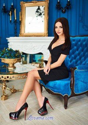 black-haired Ukrainian model from Kiev