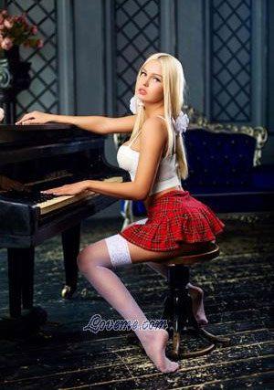 blonde Russian girl teasing guys