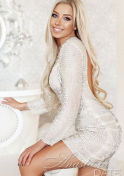blonde Ukraine babe with a sweet smile