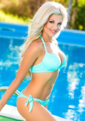 blonde Ukrainian bikini babe