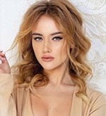 blonde Ukrainian model