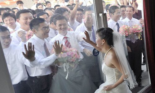 bride choosing groom in China