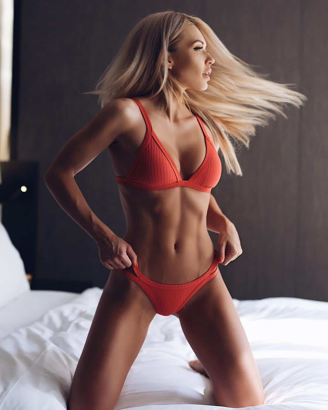 Ekaterina Usmanova hot in red bikini