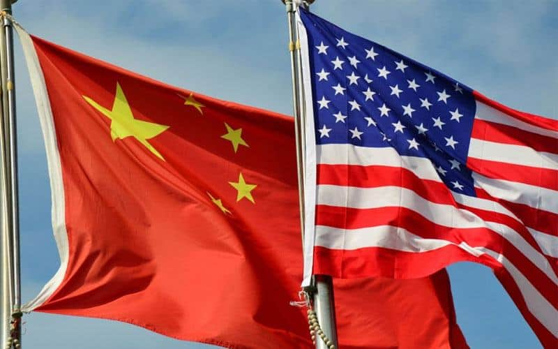flags of China and America