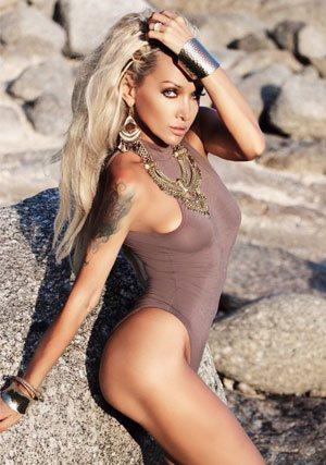 funny and sexy Russian bikini babe