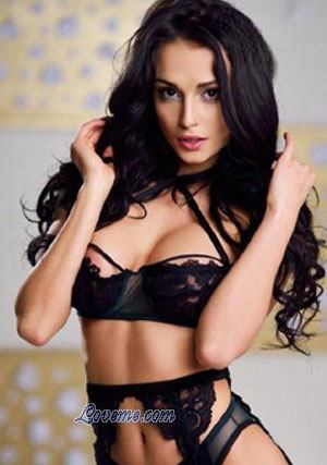 hot Ukrainian mail order bride sexy in black bikini