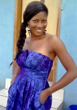 lady in blue from Nigeria