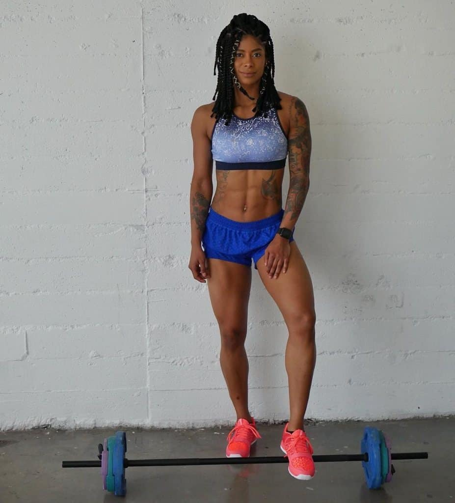 Massy Arias stepping on barbell