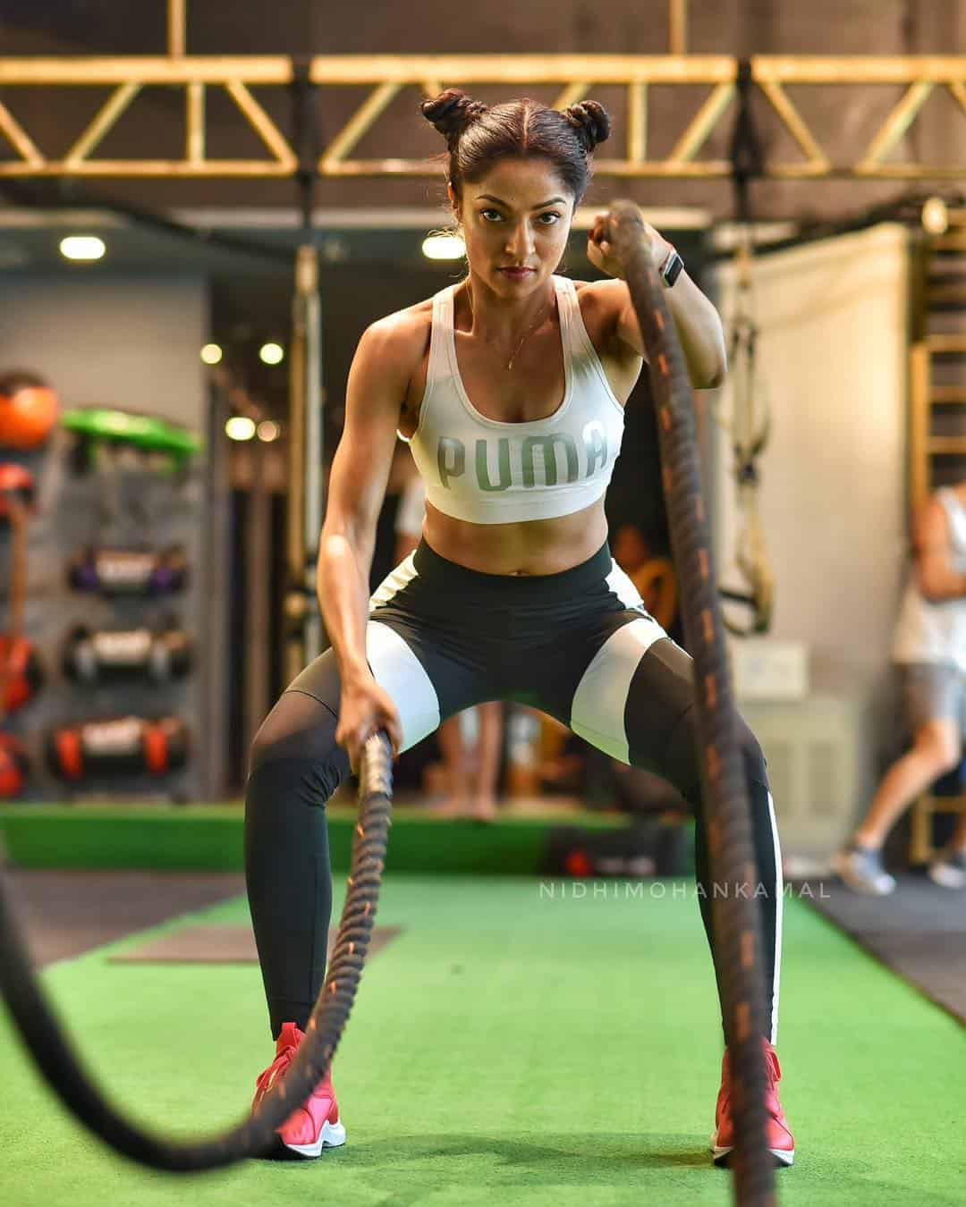 Nidhi Mohan Kamal in the gym