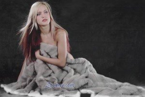 Russian model in a blanket