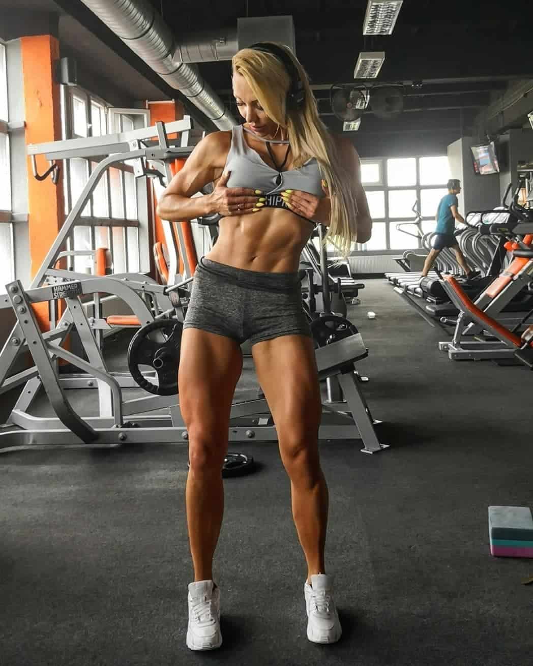 Sandra Dominiuk at the gym