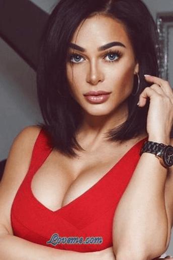 sexy busty brunette