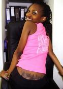 sexy Kenyan girl in pink