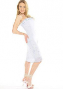 tall Lithuanian babe in a white dress