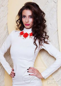 Ukraine babe with a curly hair