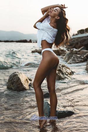 Ukraine woman Maria at the beach