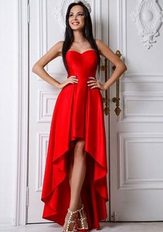 Ukrainian queen in red dress