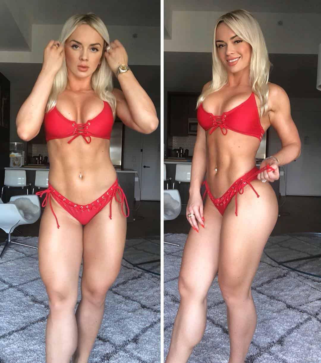 Wioletta Pawluk sizzling in red bikini